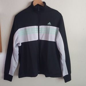 Adidas Logo Mesh Black Track Jacket Size XL